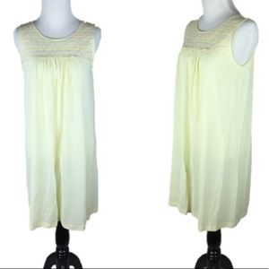Vintage 60s 70s Yellow Lace Nightgown Lorraine S